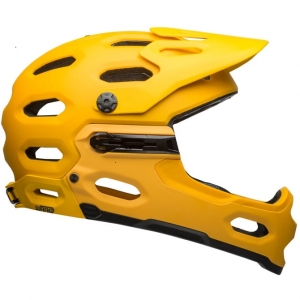 Kask rowerowy BELL SUPER 3R MIPS Matte Yellow Coal R: L(58-62 cm)