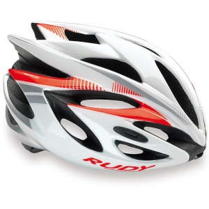Kask Rudy Project Rush White/Red Fl Rozm: L (59-62cm)
