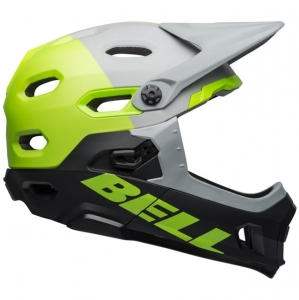 Kask rowerowy BELL SUPER DH MIPS SPHERICAL Unhinged Matte Gloss Gray Green Black R: S(52–56 cm)