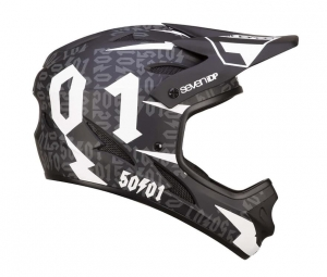 Kask rowerowy 7iDP M1 Tactic  50:01 BLACK / WHITE R: M (57-58cm)