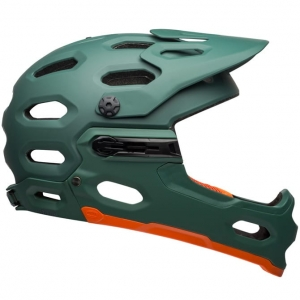 Kask rowerowy BELL SUPER 3R MIPS Matte Green Orange R: S (52–56 cm)