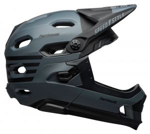 Kask rowerowy BELL SUPER DH MIPS FASTHOUSE MATTE GRAY/BLACK R: S(52–56 cm)