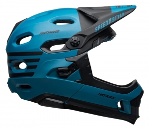 Kask rowerowy BELL SUPER DH MIPS FASTHOUSE MATTE BLUE/BLACK R: S(52–56 cm)