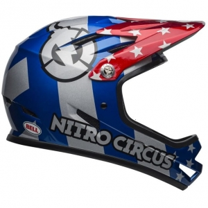 Kask rowerowy BELL Sanction Nitro Circus Gloss Silver Blue Red R: S (52-54)
