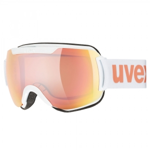 Gogle Uvex - Downhill 2000 CV White z szybą Mirror Rose Colorvision Orange