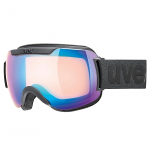 Gogle Uvex - Downhill 2000 CV Black Mat z szybą Mirror Blue Colorvision Yellow
