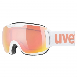 Gogle Uvex - Downhill 2000 S CV White z szybą Mirror Rose Colorvision Orange