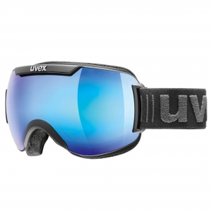 Gogle Uvex - Downhill 2000 FM Black Mat Mirror Blue Clear