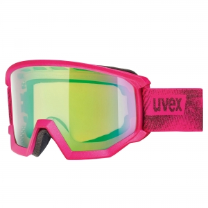 Gogle Uvex - Athletic CV Pink Mat szyba: Mirror Green/ Colorvision Orange