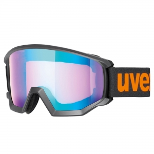 Gogle Uvex - Athletic CV Black Mat Orange Szyba: Mirror Blue/ Colorvision Yellow