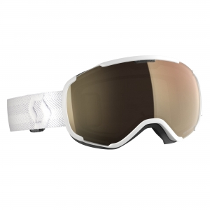 Gogle Scott Faze II LS white / light sensitive bronze chrome photochromic