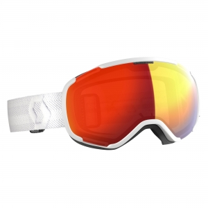 Gogle Scott Faze II LS white / light sensitive red chrome photochromic