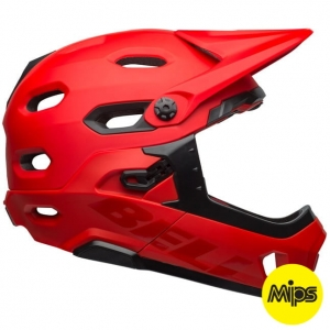 Kask rowerowy BELL SUPER DH MIPS SPHERICAL Matte Gloss Crimson Black R: L(58-62cm)