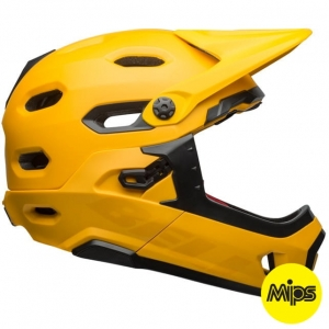 Kask rowerowy BELL SUPER DH MIPS SPHERICAL Matte Gloss Yellow Black R: S(52–56 cm)