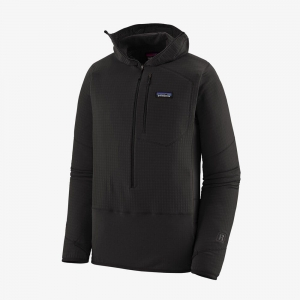 Bluza Patagonia Men's  R1 Fleece Pullover Hoody Black R: XL