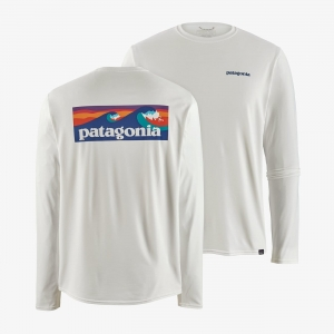 Bluza Patagonia - Men's Long-Sleeved Capilene® Cool Daily Graphic Shirt White R: S