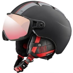 Kask z szybką Julbo - Sphere Visor Black Red / Zebra Light - L: 60-62cm