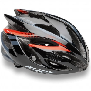 Kask Rudy Project Rush Black Red Fluo R: L (59-62cm)