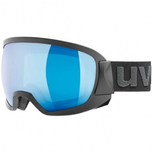 Gogle Uvex - Contest Black Mat / Mirror Blue Clear