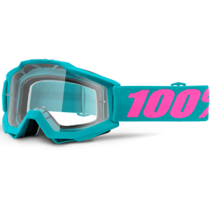 Gogle 100% Accuri Passion - Turquoise Pink / Clear