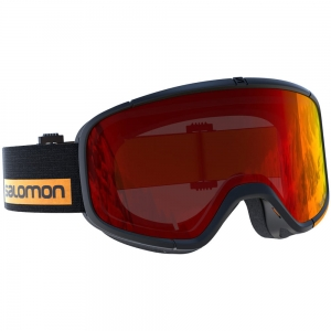 Gogle Salomon Four Seven Black Turmeric / Red
