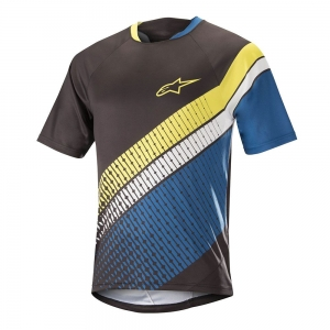 Koszulka rowerowa Alpinestars Predator Jersey S/S Black / Royal Blue / Acid Yellow R: M