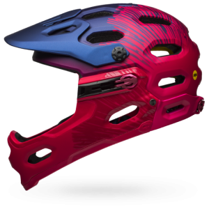 Kask rowerowy damski BELL SUPER 3R Joy Ride MIPS Matte/Gloss Navy/Cherry Fibers R: S(52-56cm)