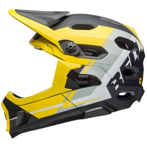 Kask rowerowy BELL SUPER DH MIPS Yellow Silver Black R: S(52–56 cm)