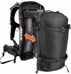 Nakładka na plecak ABS Burton Vario Cover [ak] 23L Pack True Black Heather