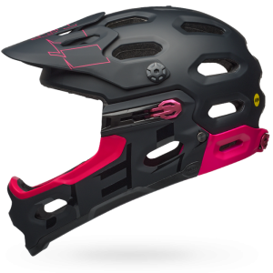 Kask rowerowy damski BELL SUPER 3R MIPS Matte/Gloss Black/Cherry R: S(52-56cm)
