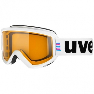 Gogle Uvex - Fire Race White Gloss / Lasergold Lite Clear